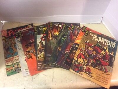 THE PHANTOM Lot Of 10 SILVER AGE COMICS Gold Key & Charlton