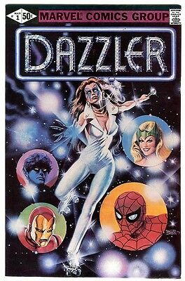 Dazzler # 1 - Marvel 1981 RARE ERROR VARIANT B&W 24 & 25 pgs White Pages NM HTF
