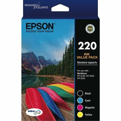 Epson 220 Ink Value Pack Genuine Product 4 Ink Pack Brand New
