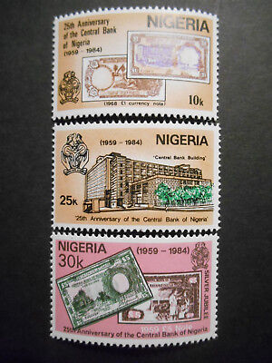 Nigeria 1984 25th Anniversary of Nigerian Central Bank SG 473-5 MNH; Banknotes