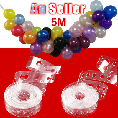 5m Decor Chain DIY Balloon Decorating String Arch Strip Tape Cake Gift Table