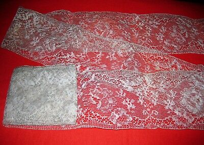 Length of Grey Vintage Lace 2.5 metres