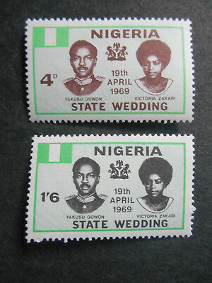 Nigeria 1969 Wedding of General Yakubu Gowon to Victoria Zakari SG 217-8 MNH