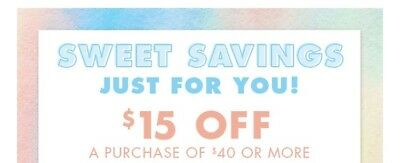 Reusable Justice Coupon $15 Off 40