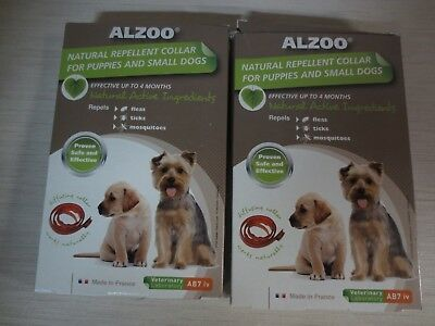 Alzoo Diffusing Dog Collar for Puppies and Small Dogs - 2 COLLARS