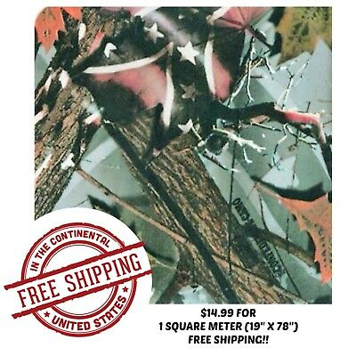 """Hydrographic Water Transfer Hydro Dipping Film Tree Camo 20 1Sq (19"""" X  78"""")"""