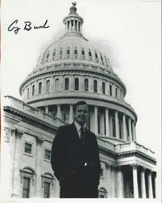 President George HW Bush hand signed 8x10 photo Autographed, US Capitol