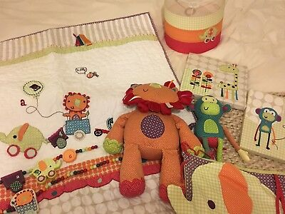 Mamas And Papas Jamboree Nursery Set (light Fitting, Quilt, Pictures And More)