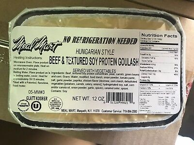 Meal Mart to Eat MRE Case A 2x 12 Meals New 2021 2 Cases Beef