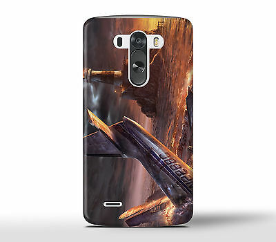 Airplane Crash In The Ocean Sea - Hard Phone Case Cover Fits LG G Models