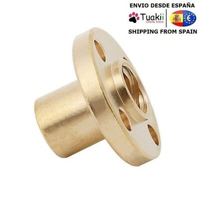 T8 Trapezoidal Brass Nut pitch 2 mm For 3D Linear Printer
