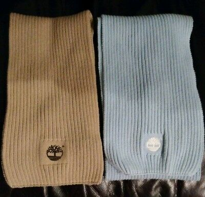 2x Timberland Kids Scarves 2-5 Yrs Ribbed Cotton Lovely Condition