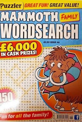 Puzzler Family Mammoth Wordsearch 2019 # 46 = 150 Puzzles