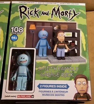 McFarlane Toy Building Small Sets Rick and Morty SMITH FAMILY GARAGE RACK