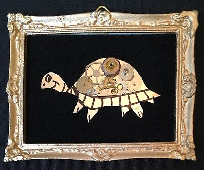 "The Tortoise original miniature watch piece collage 2""x2.5"" G.Burgess Cornwall"