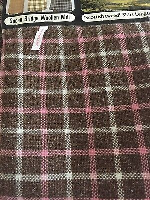 "Vintage Scottish Tweed Skirt Length Fabric 36""width 54""length"