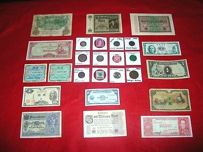 RARE WORLD WAR 2 II lot Coins and Currency - U.S. - Germany - Japan + MORE!! #1