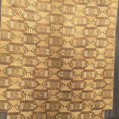 rags  1840'S BEAUTIFUL CHINTZ QUILT  HARD TO FIND EARLY CHINTZ