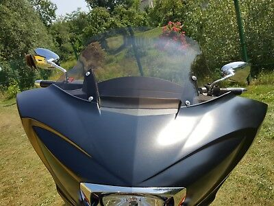 "AJ_Baggers NEW Aero Light Tinted Windshield 12"" for Victory Cross Country"