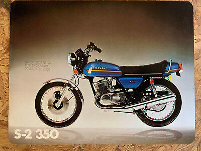 1971 KAWASAKI 350 F5 BIGHORN MOTORCYCLE Brochure Printed Japan