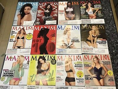 Maxim Magazine Lot Of 26 Issues 3/2011-9/2013 Missing A Couple Of Issues