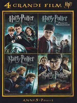 Harry Potter (Cofanetto) 4 Grandi Film DVD ( Anni 5-7 parte 2 ) Collection