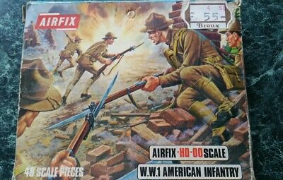 airfix ho oo toy soldiers American infantry ww1 see my other airfix items