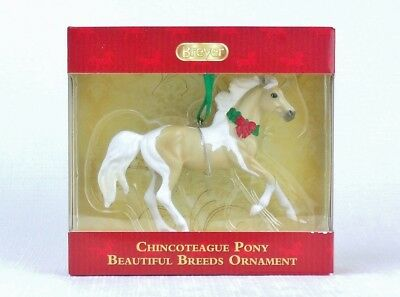 BREYER 2018 Christmas Ornament CHINCOTEAGUE PONY Pinto Horse  NEW IN BOX