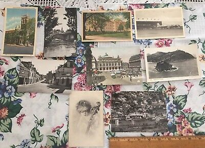VINTAGE POSTCARDS Sm. Lot Of 9. 1940's-50's Era. One From 1912!