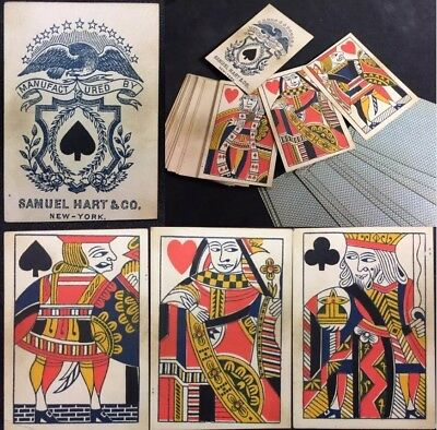 Historic Gamblers Saloon Cheaters Poker Deck Antique Playing Cards Faro