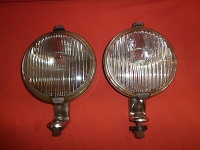 """WIPAC Classic Stainless steel 5"""" Spot / Fog Lamp Light 5.1/2"""" case Ford Mini x 2"""