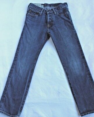 Abercrombie and Fitch Boys Remsen Low Rise Slim Straight Sz 10 Jeans Dark Wash