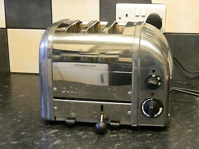 Dualit 3 slice toaster in stainless steel / chrome finish