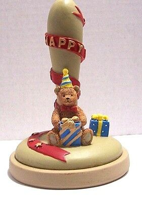 Brown Bag Cookie Stamp Teddy Bear Happy Birthday 1995 EUC