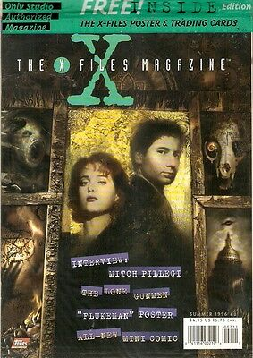 X-Files Akte X  USA Topps Magazine 2 Special Ed. m.Poster u. exkl. Trading Cards