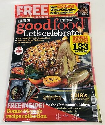 BBC Good Food Magazine December 2018 FREE WINTER RECIPE COLLECTION INSIDE! (NEW)