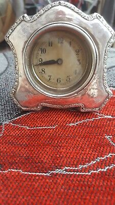 antique/ vintage sterling silver clock