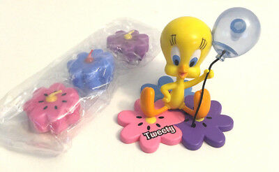 Looney Tunes TWEETY BIRD Cake Topper with Matching Flower Candles