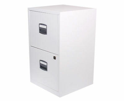 Bisley Metal Filing Cabinet 2 Drawer A4 - Chalk White
