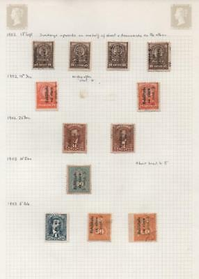 PARAGUAY: 1902-1903 Examples - Ex-Old Time Collection - Album Page (21235)