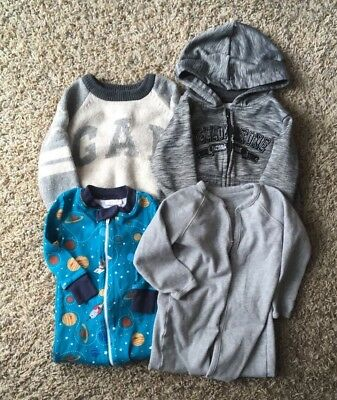 Baby Boy Warm Clothes Lot Of 4 12M 12-18M EUC