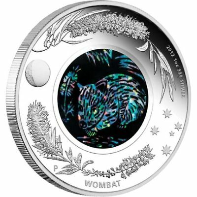 Australia 2012 Australian Opal Series - The Wombat 1oz Silver Proof Coin