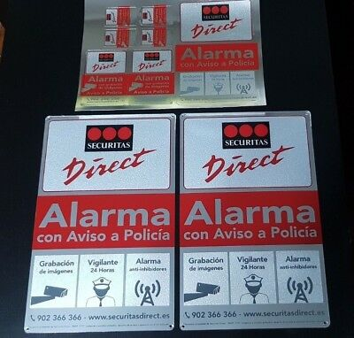 2 Placas medianas + pegatinas securitas Direct. Modelo 2017 Alarma Verisure