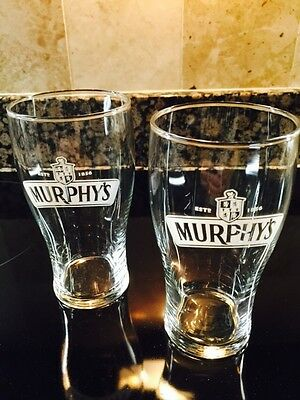 Murphy's Brewery New  Pair Of Pint Beer Glasses (Free Shipping)Only In Us