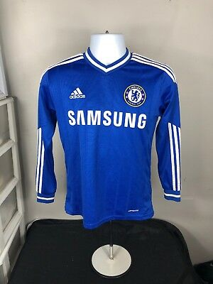 Chelsea Football Fernando Torres  9 Long Sleeve Soccer Jersey Youth LARGE  Blue 4abed5798