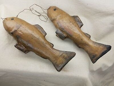 Very Early American Folk Art Paper Mache Fish