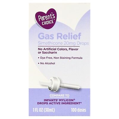 New Parent's Choice Gas Relief Drops 1 oz infant baby simethicone
