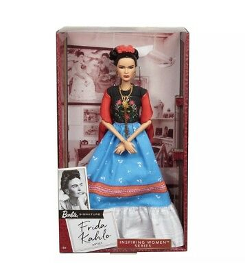 Frida Kahlo Barbie Doll NEW Mattel Inspiring Women Series Mexican Artist IN HAND