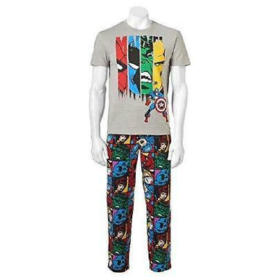 Men's MARVEL Comics 2pc SLeeP PaJaMa Set T Shirt & Micro Fleece Pants Large