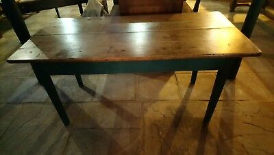 French Vintage Farmhouse Dining Or Prep Table.